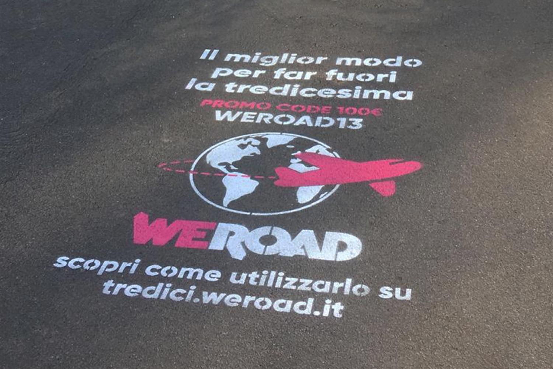 campagna pubblicitaria weroad
