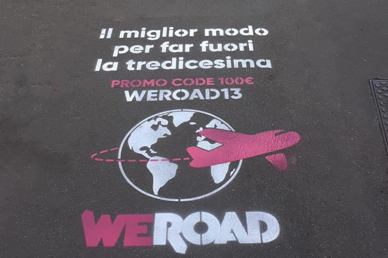 graffiti pubblicitari weroad