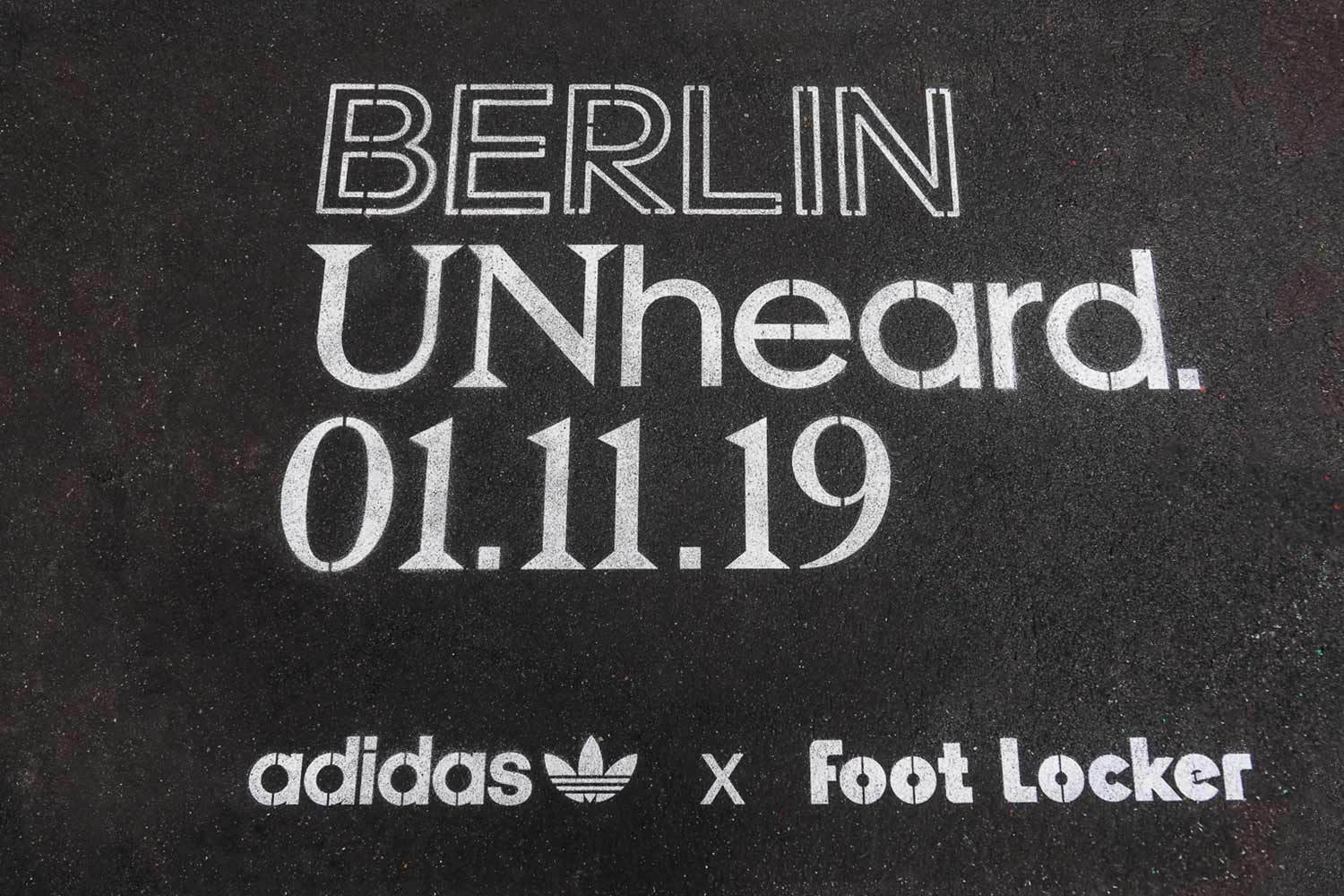 outdoor advertising adidas berlin unheared