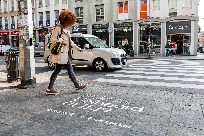 outdoor advertising adidas berlin unheared