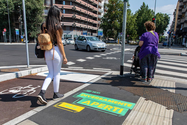 pubblicità marciapiedi ied