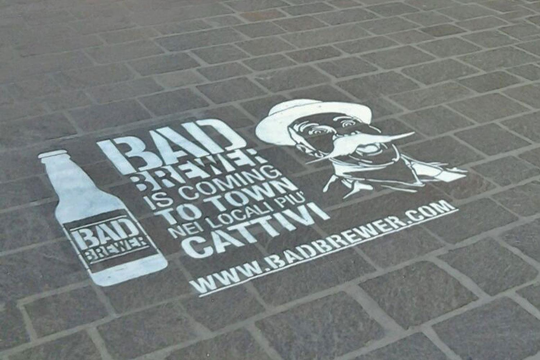 street advertisement badbrewer