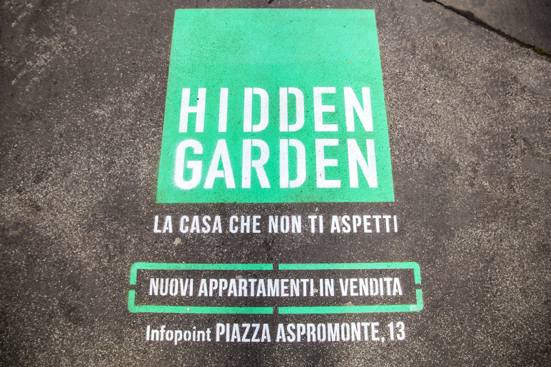 ambient marketing hidden garden
