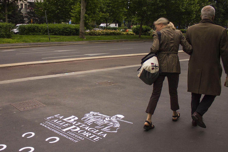 graffiti pubblicitari palio di legnano