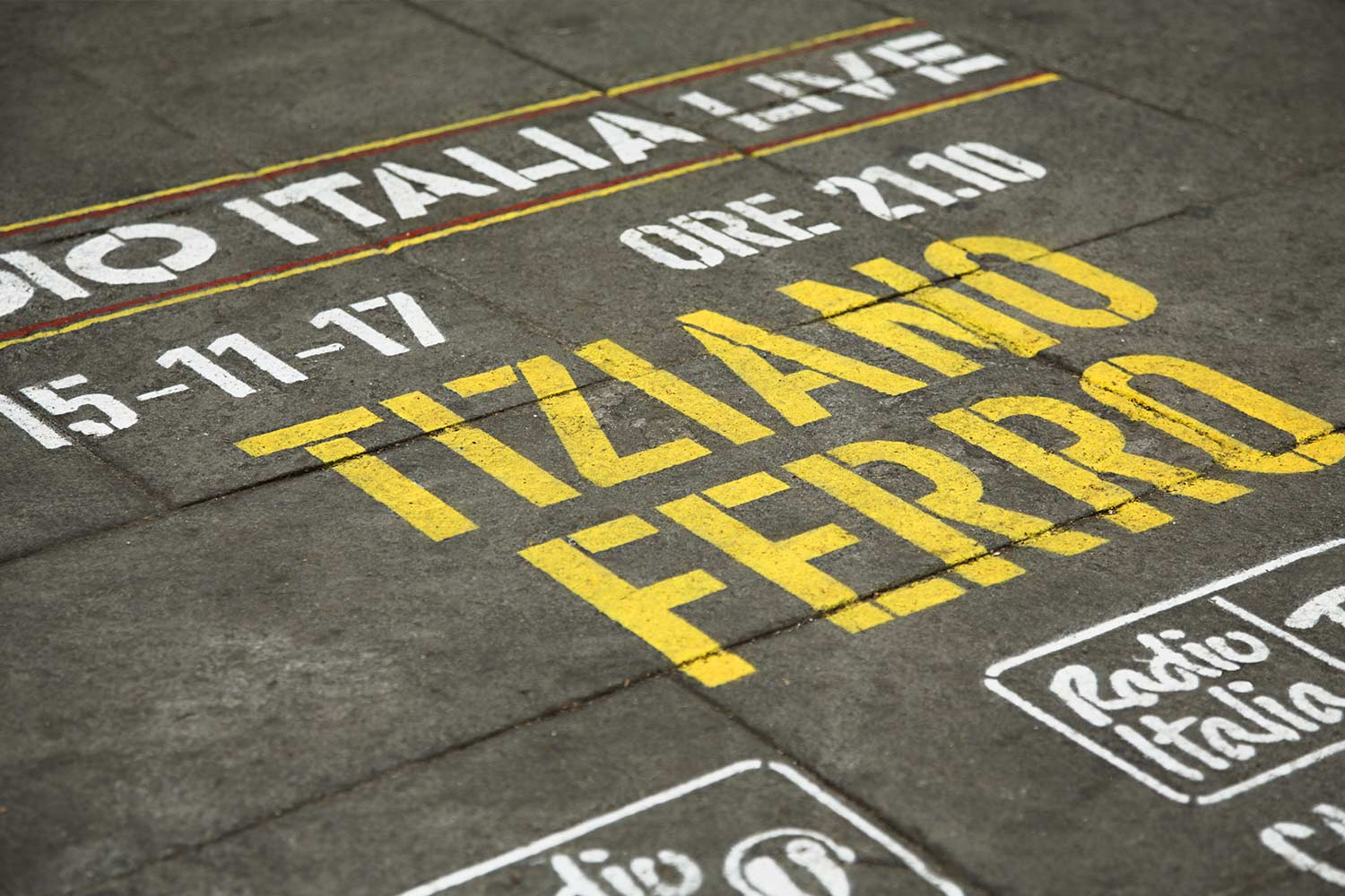 street marketing radio italia tiziano ferro