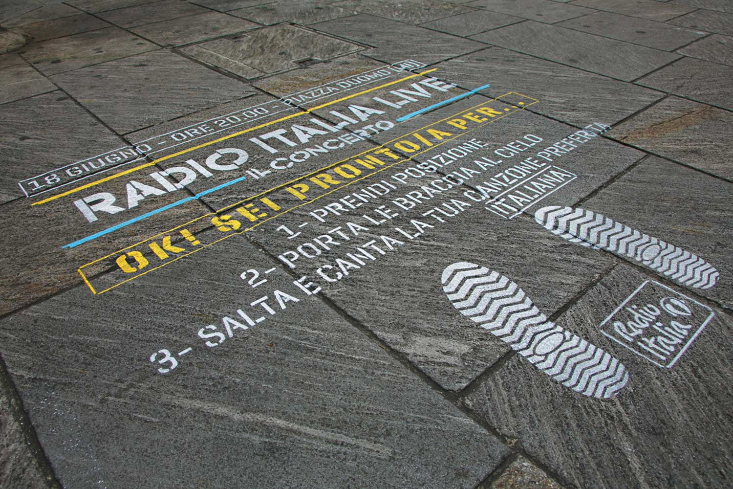street marketing radio italia concerto duomo