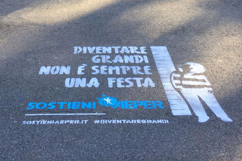 pubblicita marciapiedi aeper