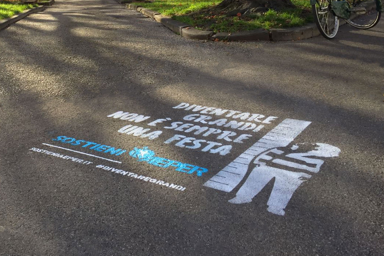 graffiti pubblicitari aeper