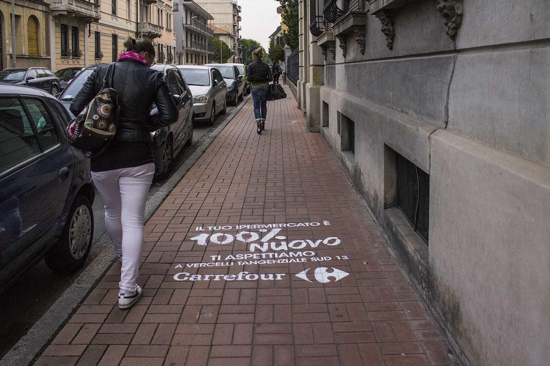 street marketing ipermercati carrefour
