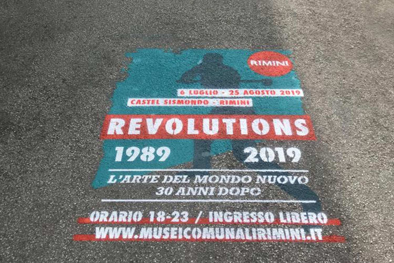 street marketing comune di rimini revolutions