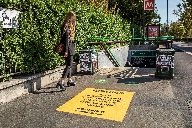 floor advertising doppio malto