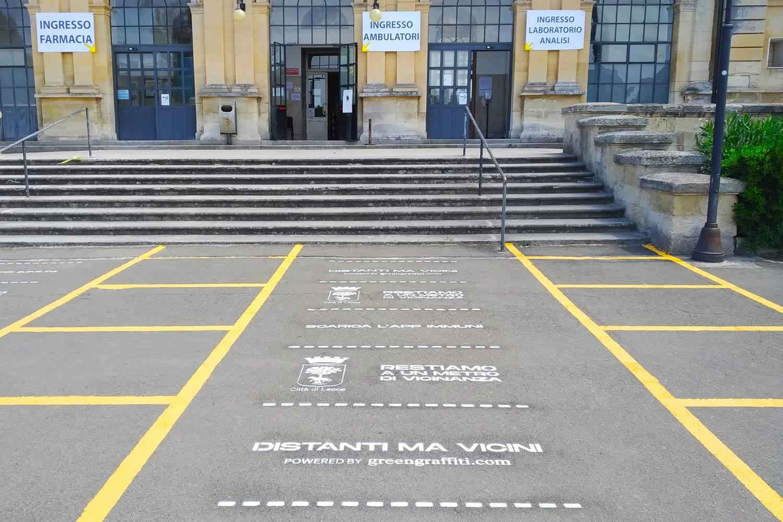 GreenGraffiti Distanziamento Sociale Lecce