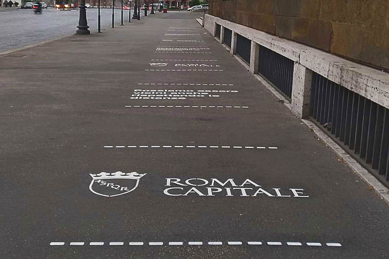 GreenGraffiti Distanziamento Sociale Roma