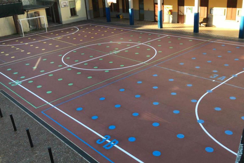 GreenGraffiti Distanziamento Sociale Scuola Varese
