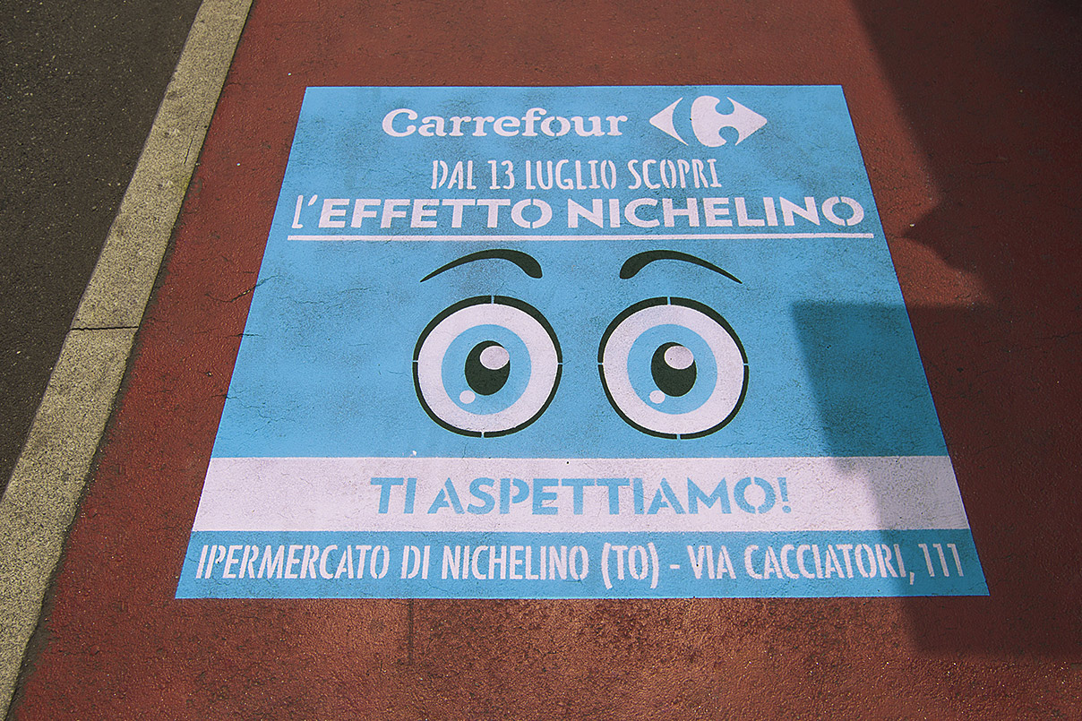GreenGraffiti Carrefour Marketing Prossimità