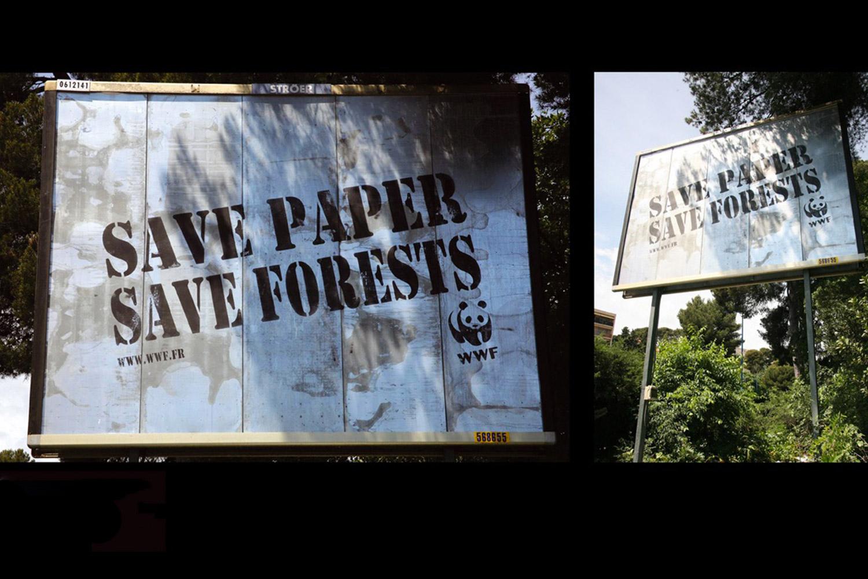GreenGraffiti Billboard creativo WWF