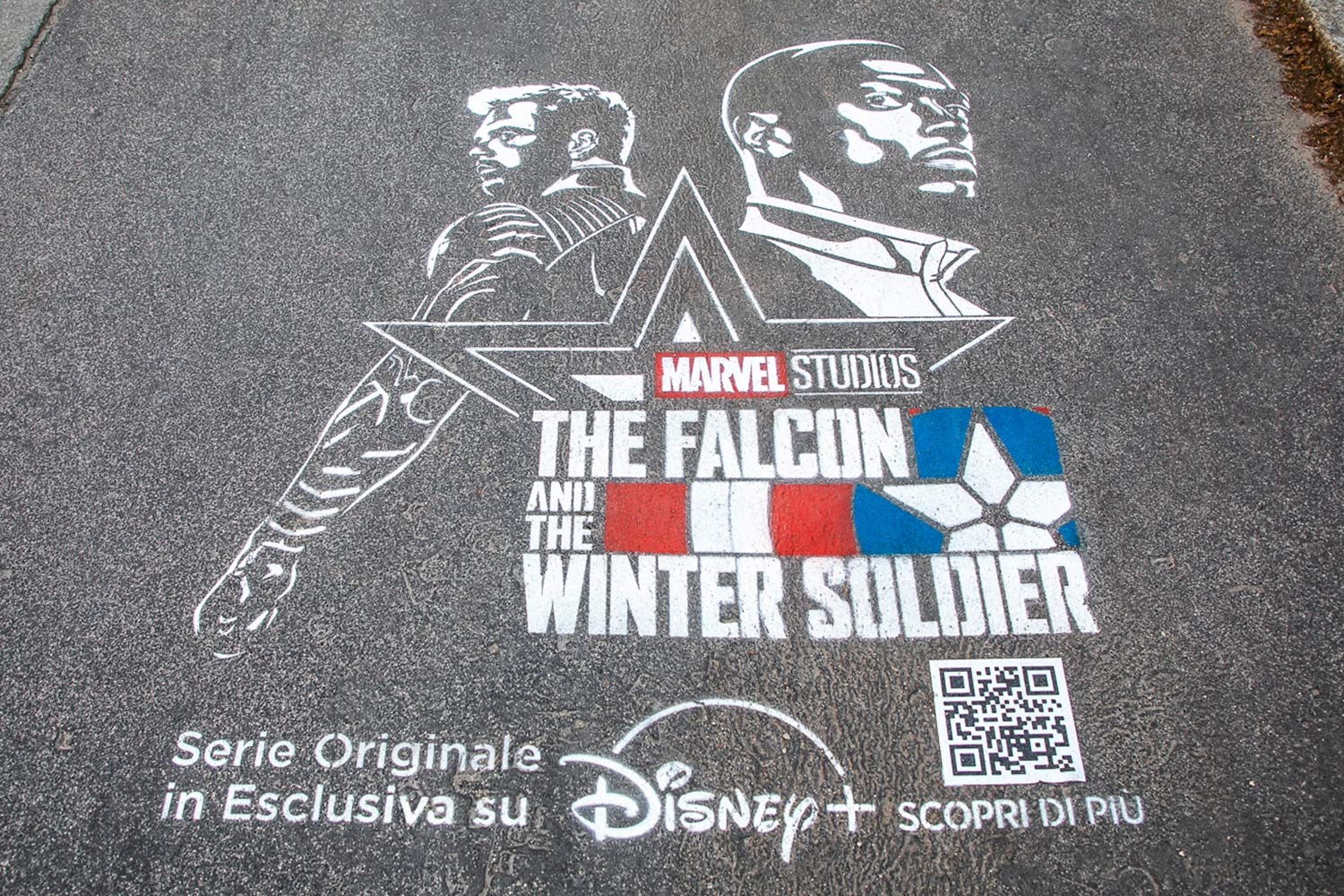 graffiti disney marvel falcon Winter Soldier
