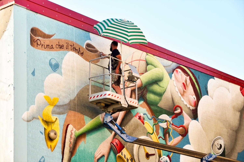 Ikea earth zed murales
