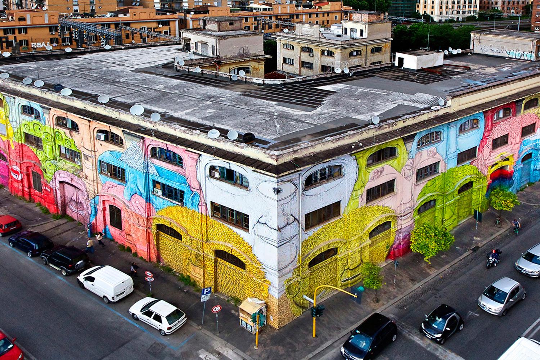 Blu Roma Ostiense Street Art