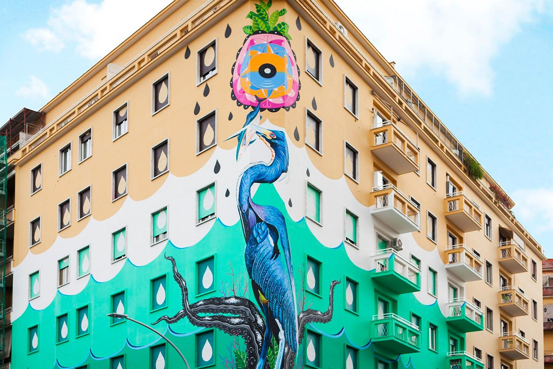 Iena Cruz Street art roma ostiense