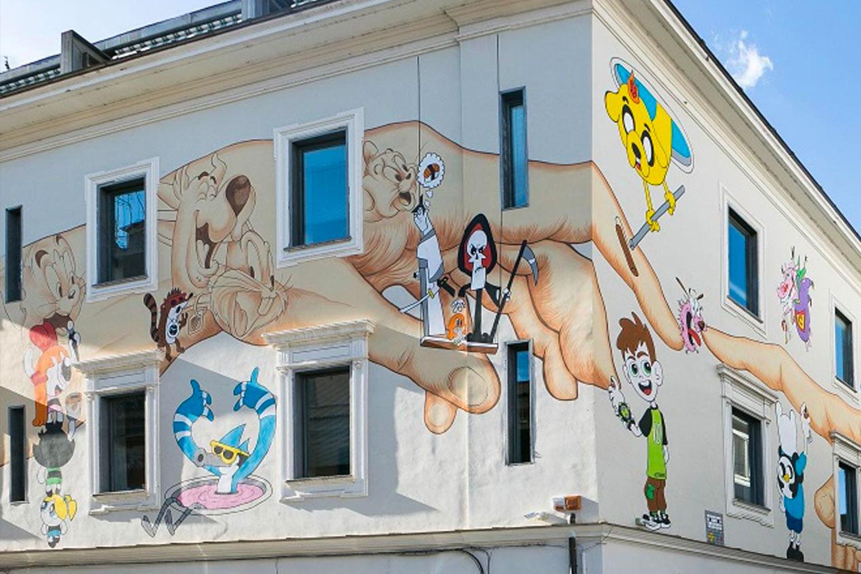 Omino71 Mr.Klevra Ostiense Roma street art
