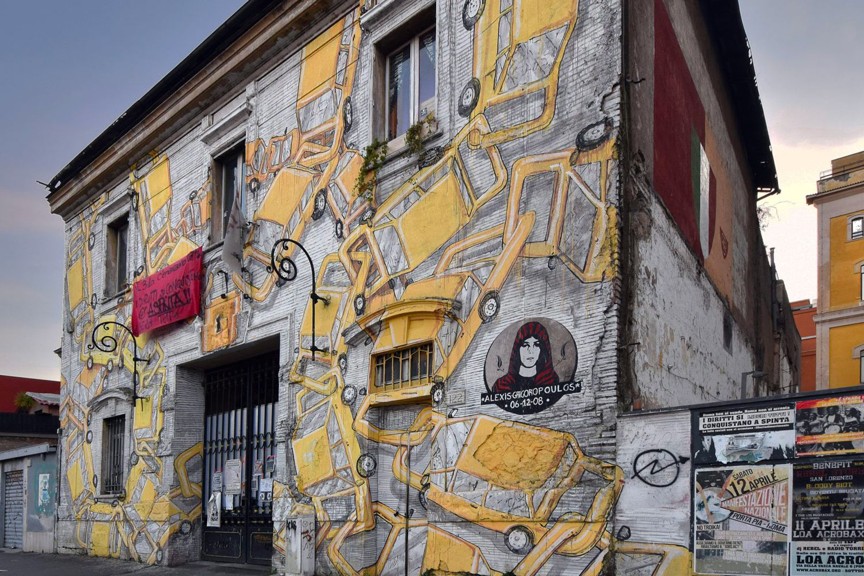 Blu ostiense roma street art