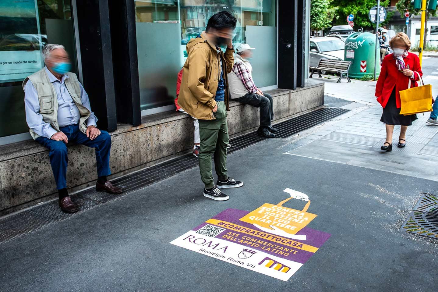 Street advertising roma compra sotto casa