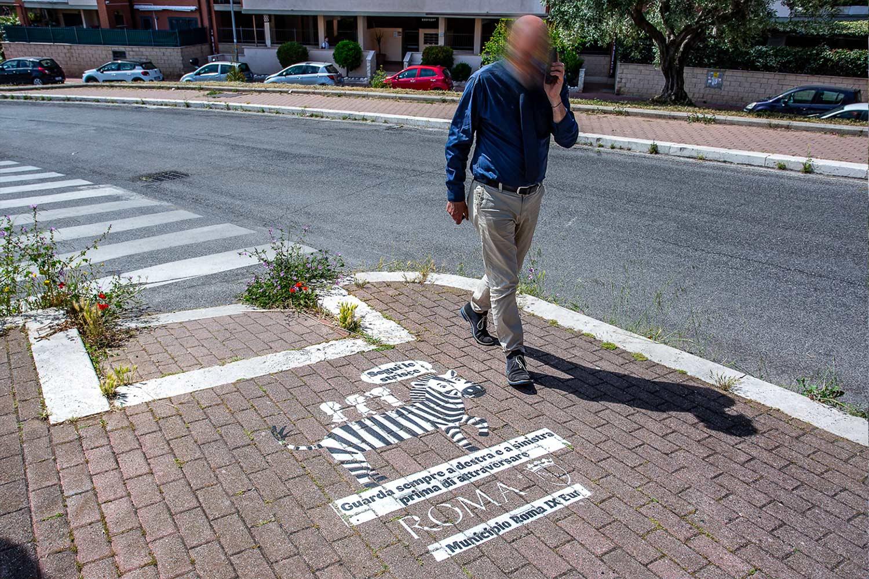 Street advertising roma Municipio IX