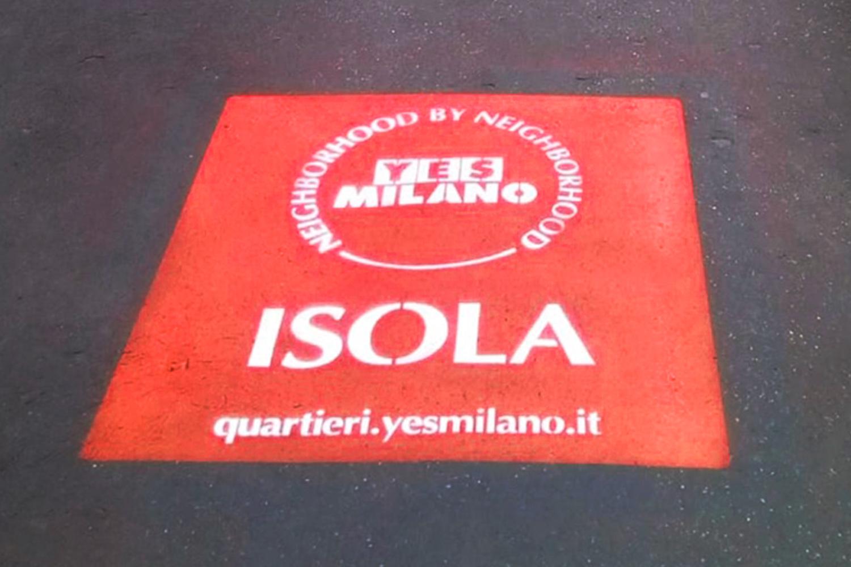 graffiti pubblicitari isola yes milano