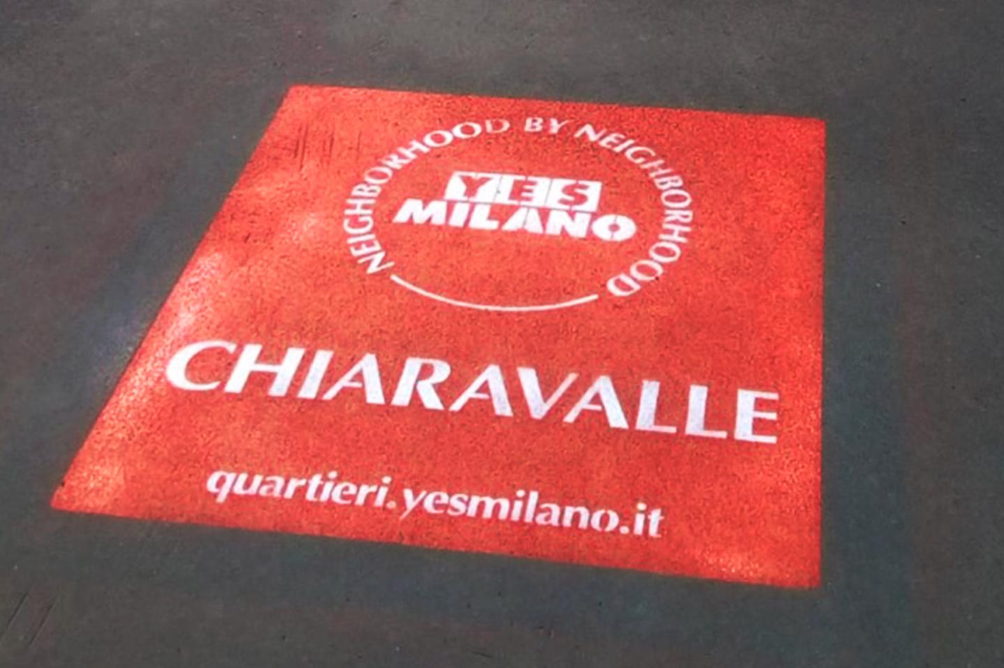 street marketing chiaravalle comune di milano