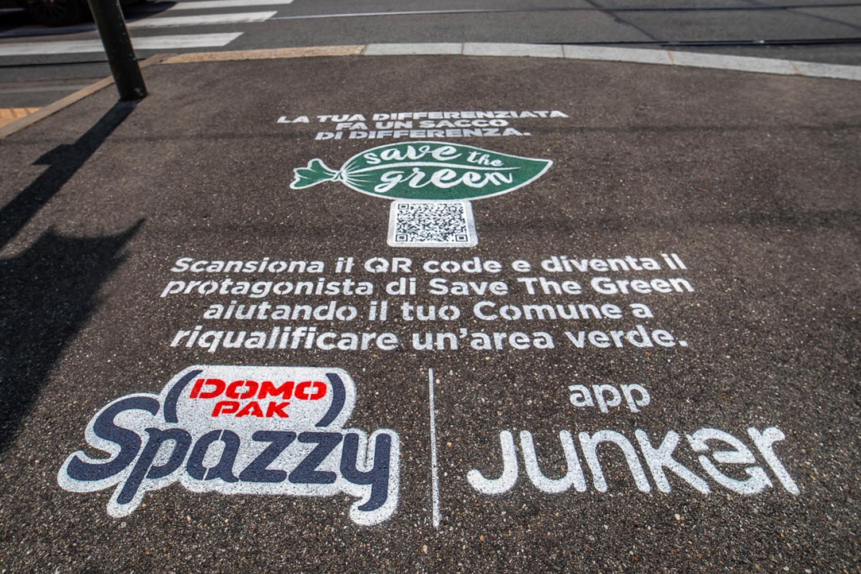 street marketing Domopak Spazzy
