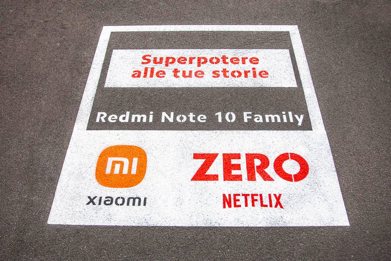 graffiti pubblicitari Xiaomi