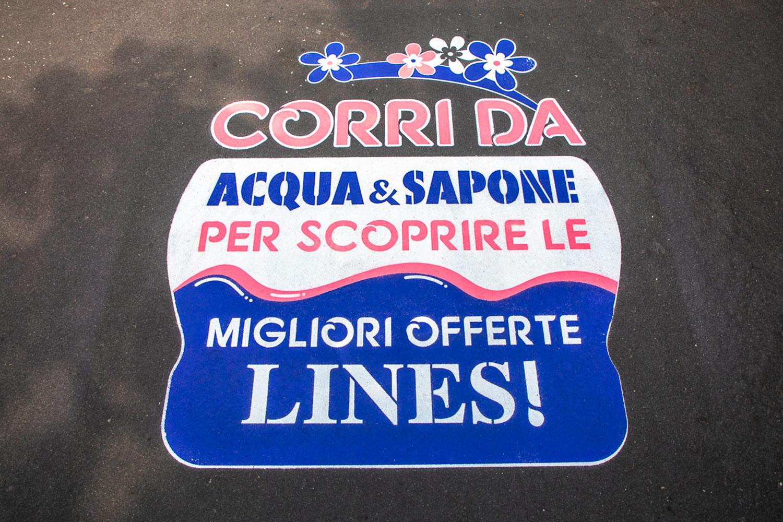 graffiti pubblicitari Acqua & Sapone