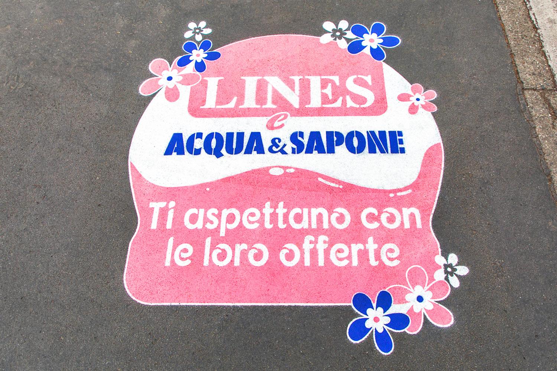 street marketing Acqua & Sapone