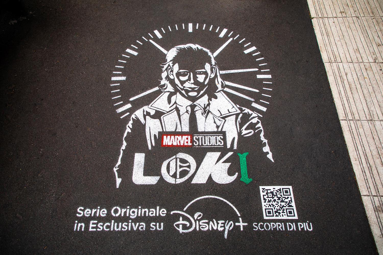graffiti pubblicitari disney marvel Loki