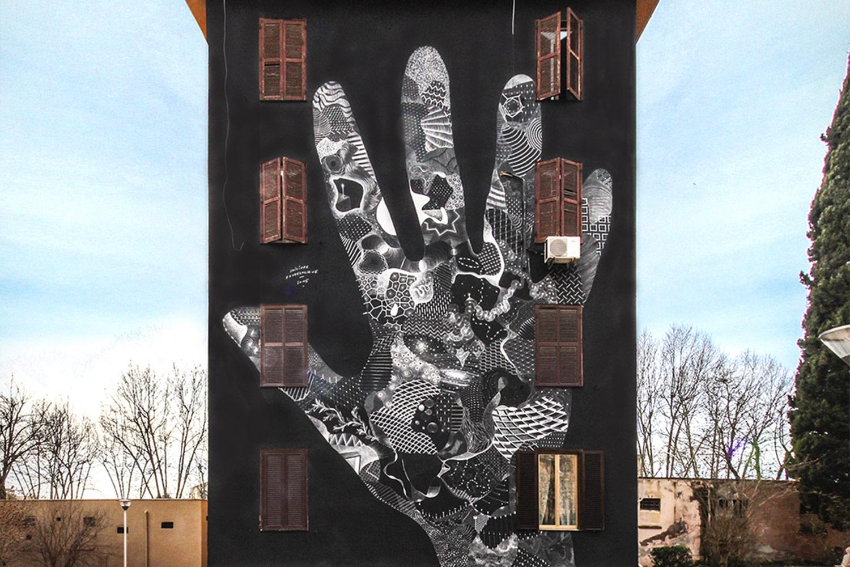 Philippe Baudelocque murales roma