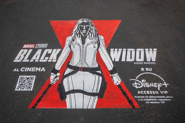 campagna pubblicitaria Disney+ - Black Widow