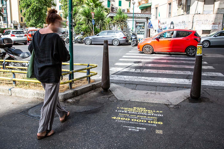street marketing Netflix - Generazione 56k