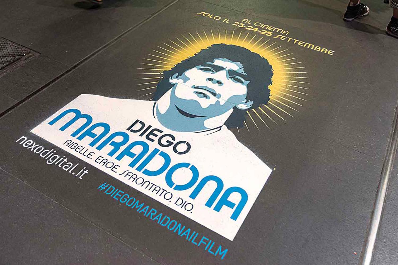 GreenGraffiti Diego Maradona