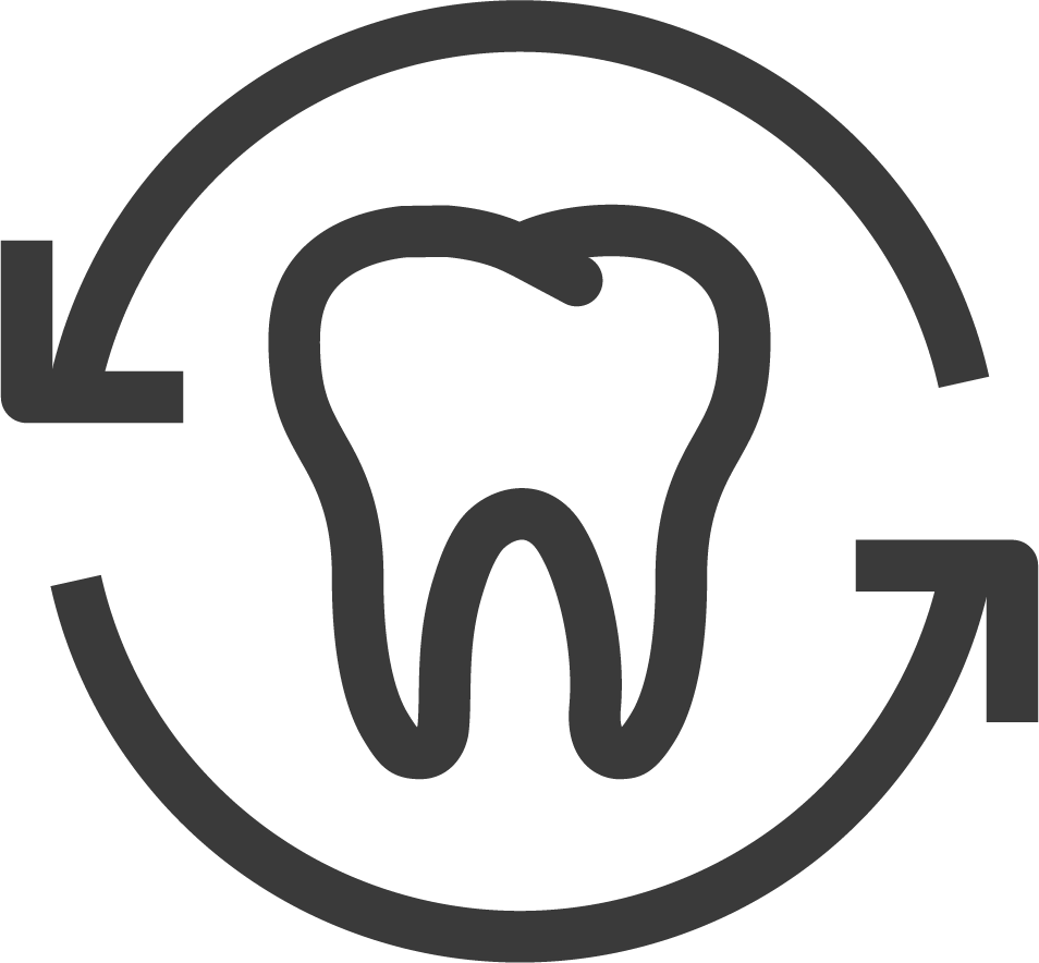tooth in cycle icon