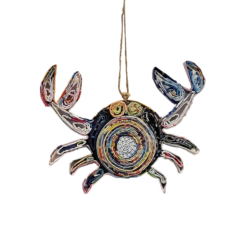 Cartoon Crab Ornament