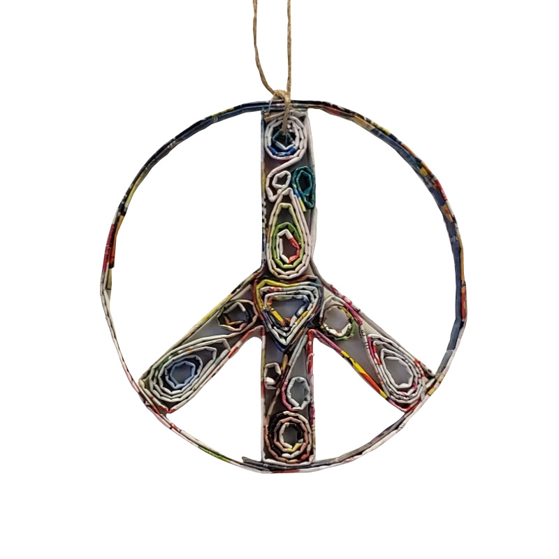Peace Sign Ornament - Small