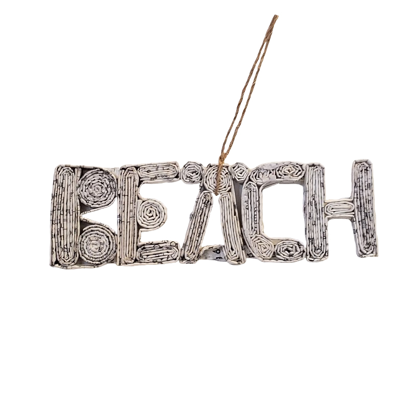 Beach Ornament - White