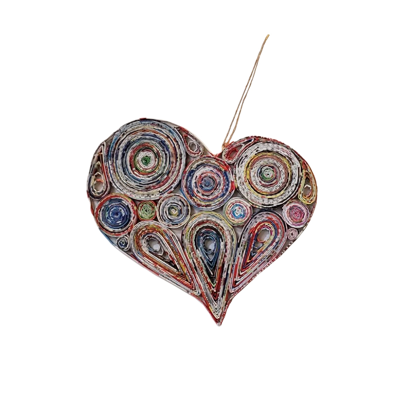Lopsided Heart Ornament - Medium