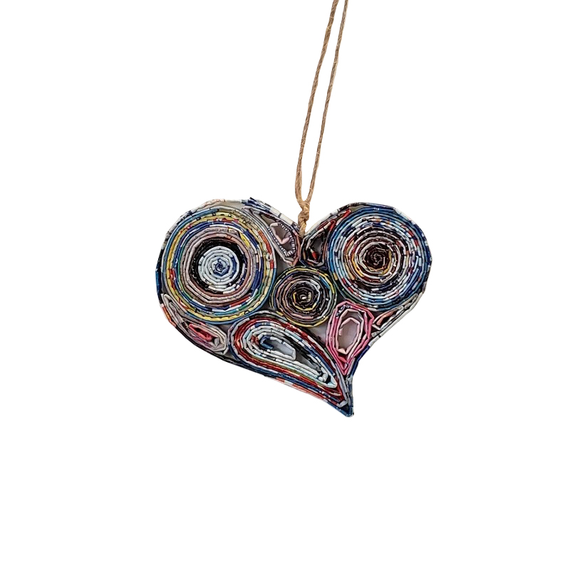 Lopsided Heart Ornament - Small
