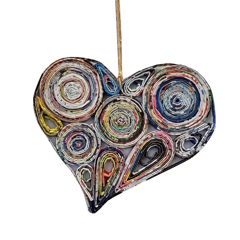 Lopsided Heart Ornament - Large