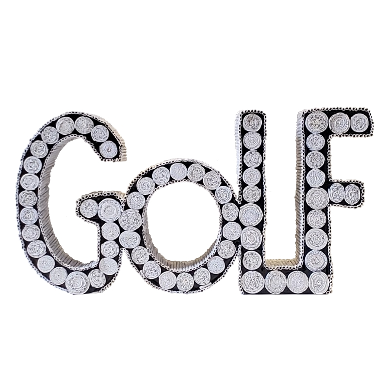 Golf Sign - White Figure