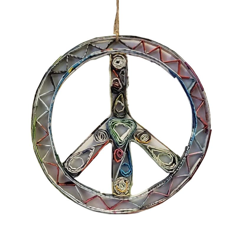 Peace Sign Ornament - Large