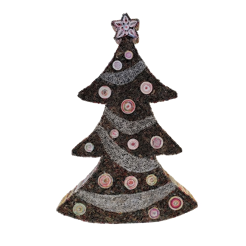 Striped Christmas Tree - Medium