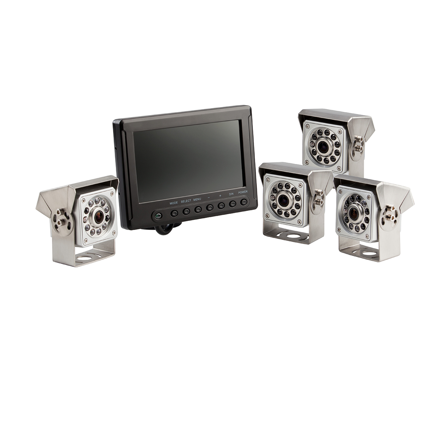 7.0inch HD Weatherproof Quad View Four Mining Camera Kit